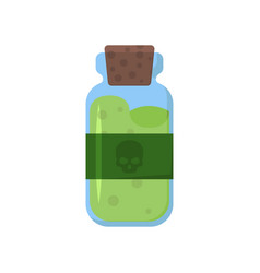 Jar poison label with skull vector