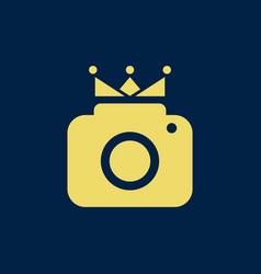 king photography logo vector image