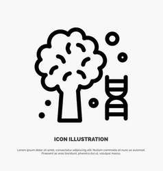 Knowledge dna science tree line icon vector