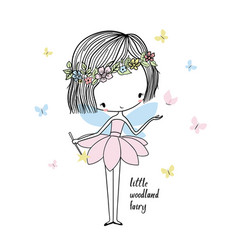 Little forest fairy vector