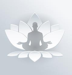 Lotus medittion icon vector