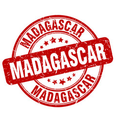 Madagascar stamp vector
