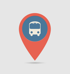 Map pin bus station vector