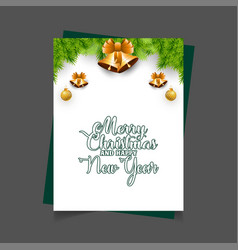 merry christmas and happy new year jingle bell vector image