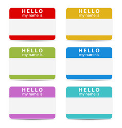 My name is color set vector