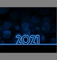 Neon style happy new year 2021 background design vector