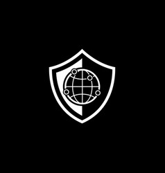 Network security icon flat design vector