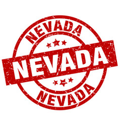 Nevada red round grunge stamp vector