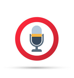 No recording sign no microphone sign vector