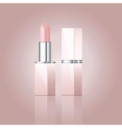 Pink lipstick vector
