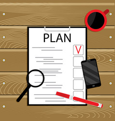 plan and organization vector image