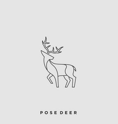 pose deer template vector image