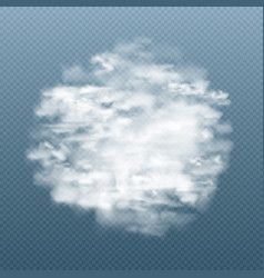 realistic fog or smoke in circle shape vector image