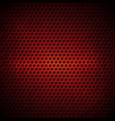 red dotted metal background design vector image