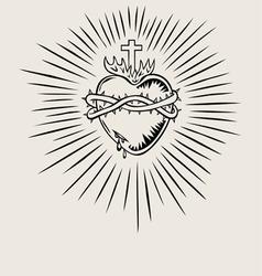 Sacred heart jesus vector