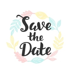 Save the Date hand lettering vector