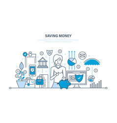 Saving money finance banking online payment vector