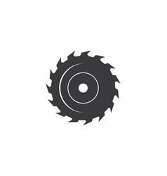 saw blade logo icon vector image