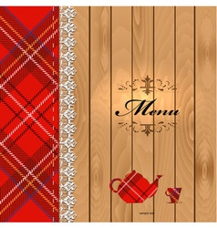 Scottish Food Menu Design vector image