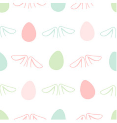 seamless abstract pattern with ear rabbits of vector image