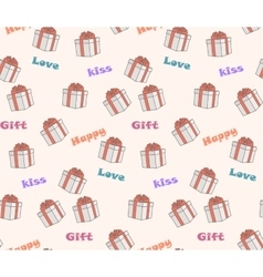 seamless pattern on the theme gifts and love vector image