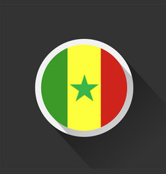 Senegal national flag on dark background vector