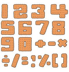 set of cracker number vector image