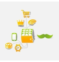 Set of sticker design Online shopping concept vector image