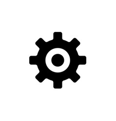 setting gear flat icon vector image