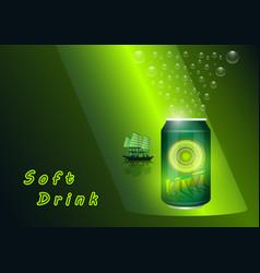 Soft drink kiwi vector
