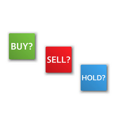 Stock market options three business variants vector