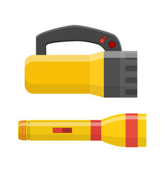 Tourist flashlight icon vector