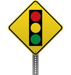 Traffic signal sign vector