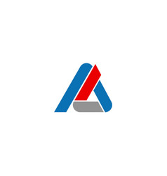 triangle shape line initial company logo vector image