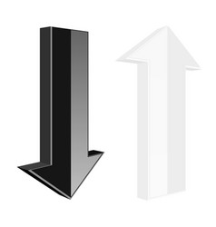 up and down arrows black and white web icons vector image