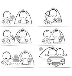 wedding-day cartoon vector image
