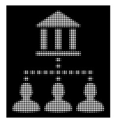 white halftone bank building client links icon vector image