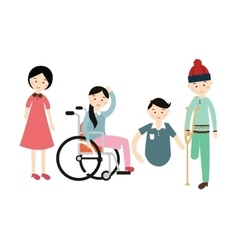 world disability day disabled people flat vector image