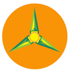 yellow with green spinner blades vector image