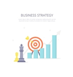 Business strategy chess king target arrow vector