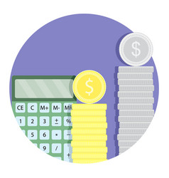 count money budget finance icon vector image vector image