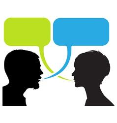 dialogue comic strip vector image vector image