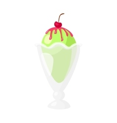 Funny cartoon cute ice cream Isolated vector image