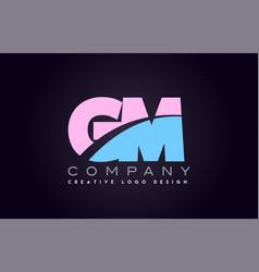 gm alphabet letter join joined letter logo design vector image