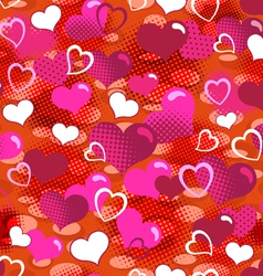 lovely hearts seamless background vector image vector image