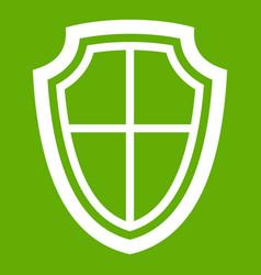 shield icon green vector image vector image