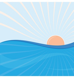 sun and sea vector image vector image