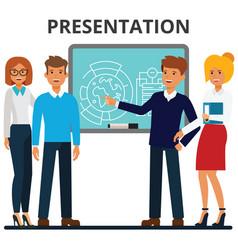 business presentation businessmen and vector image