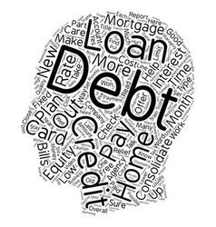 Debt relief part 3 text background wordcloud vector