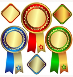 gold silver and bronze awards vector image vector image